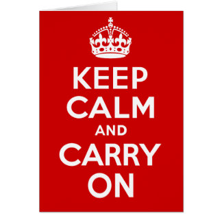 Authentic Keep Calm And Carry On Original Red Card