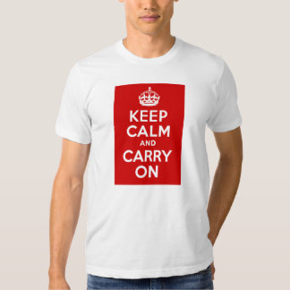 Authentic Keep Calm And Carry On Original Red T-shirt