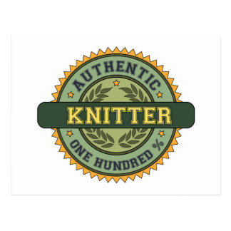 Authentic Knitter Postcard