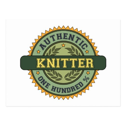 Authentic Knitter Post Card