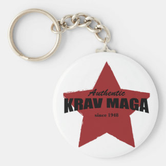 Authentic Krav Maga since 1948 Basic Round Button Keychain