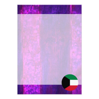 "Authentic Kuwaiti Flag 5"" X 7"" Invitation Card"