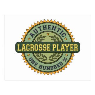 Authentic Lacrosse Player Postcards