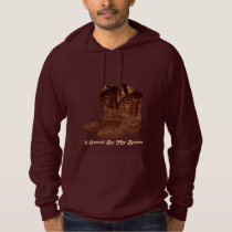 Authentic Leather Cowboy Boots Designer #Gift Hoodie