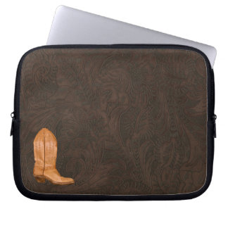 Authentic Leather Cowboy Boots Designer #Gift Laptop Computer Sleeve