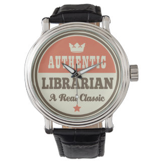 Authentic Librarian (Funny) Gift Wrist Watch