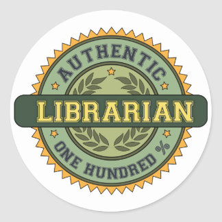 Authentic Librarian Classic Round Sticker