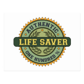 Authentic Life Saver Postcard