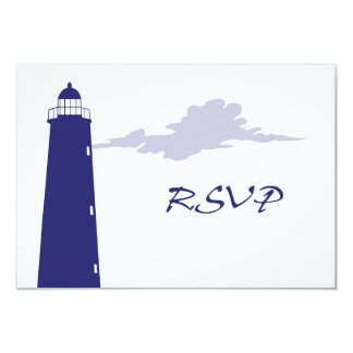 Authentic Lighthouse RSVP card