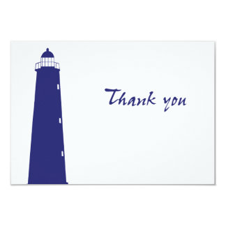 Authentic Lighthouse Thank You card