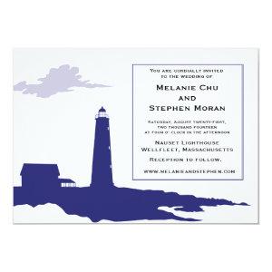 Authentic Lighthouse Wedding Invitation 5