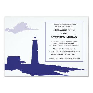 Authentic Lighthouse Wedding Invitation