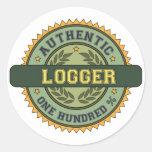 Authentic Logger Classic Round Sticker