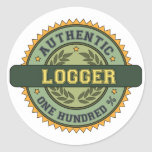 Authentic Logger Round Sticker