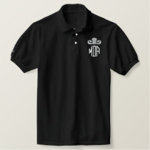 Authentic Majeure Dean Apparel Embroidered Polo Shirt