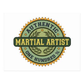 Authentic Martial Artist Postcard