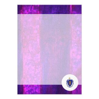 "Authentic Massachusettsan Flag 5"" X 7"" Invitation Card"
