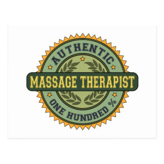 Authentic Massage Therapist Post Cards