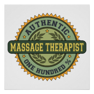 Authentic Massage Therapist Poster