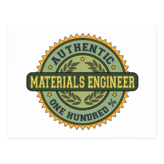 Authentic Materials Engineer Postcards
