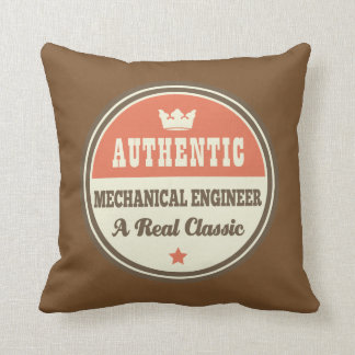 Authentic Mechanical Engineer Vintage Gift Idea Throw Pillow
