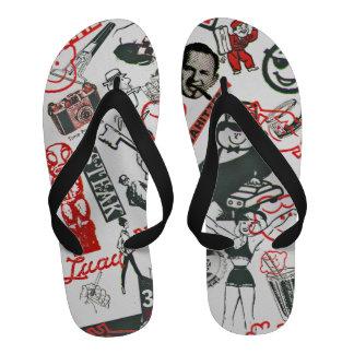 Authentic Men's Mad-Design Advertising Logos - Sandals