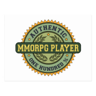 Authentic MMORPG Player Postcard