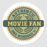 Authentic Movie Fan Classic Round Sticker
