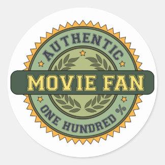 Authentic Movie Fan Round Stickers