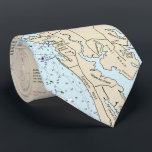 """Authentic Nautical Chart Baltimore MD Chesapeake Tie<br><div class=""""desc"""">For your favorite nautical Maryland man, this nautical tie -- featuring the official NOAA navigation chart for the Chesapeake Bay area -- makes a great gift! If he belongs to a boating organization or yacht club or is simply a boat owner, this is such a great tie to wear to...</div>"""