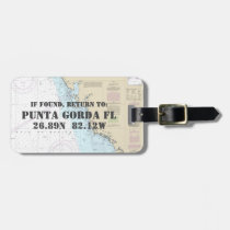 Authentic Nautical Chart: Punta Gorda FL Luggage Tag