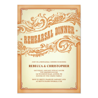 "Authentic Old Western Rehearsal Dinner Invitation 5"" X 7"" Invitation Card"