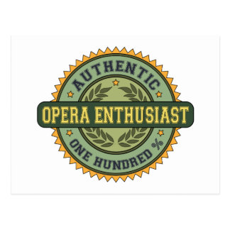 Authentic Opera Enthusiast Post Card