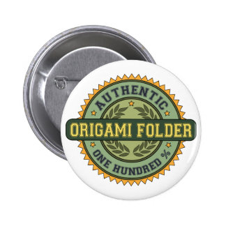 Authentic Origami Folder Pinback Buttons