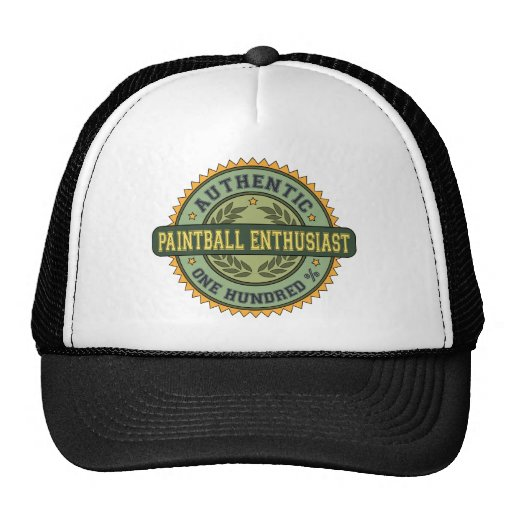 Authentic Paintball Enthusiast Trucker Hat