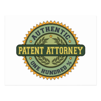 Authentic Patent Attorney Post Card