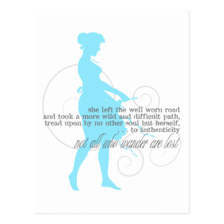 Authentic Path: Woman Silhouette Postcard