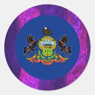 Authentic Pennsylvanian Flag Classic Round Sticker