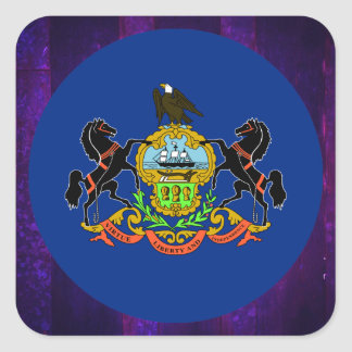 Authentic Pennsylvanian Flag Square Sticker