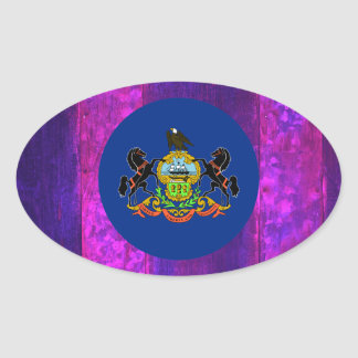 Authentic Pennsylvanian Flag Oval Sticker