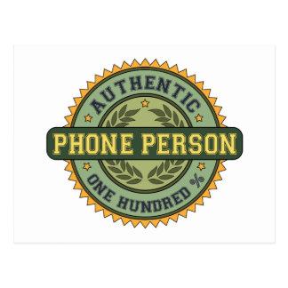 Authentic Phone Person Postcard