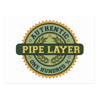Authentic Pipe Layer Postcard
