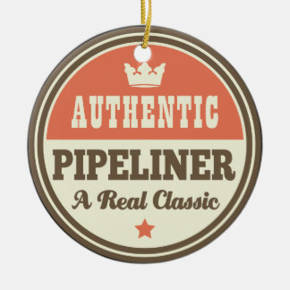 Authentic Pipeliner Vintage Gift Idea Double-Sided Ceramic Round Christmas Ornament