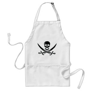 Authentic Pirate Flag of Jack Rackam Adult Apron