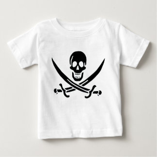 Authentic Pirate Flag of Jack Rackam Baby T-Shirt