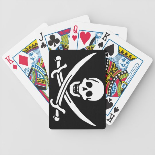 Authentic Pirate Flag of Jack Rackam Bicycle Playing Cards