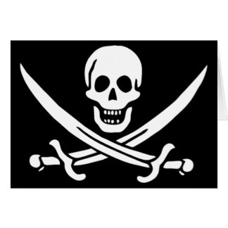 Authentic Pirate Flag of Jack Rackam Card