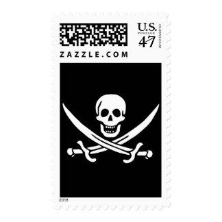 Authentic Pirate Flag of Jack Rackam Postage