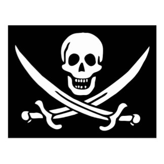 Authentic Pirate Flag of Jack Rackam Postcard