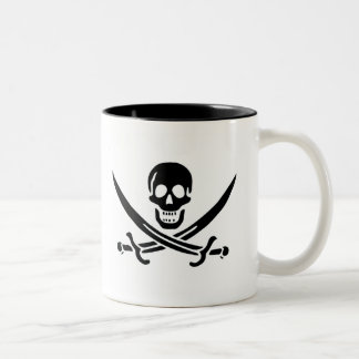 Authentic Pirate Flag of Jack Rackam Two-Tone Coffee Mug